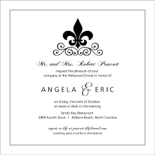 rehearsal dinner invite black and white fleur de lis rehearsal dinner invite and