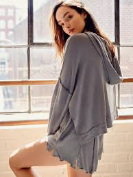 free people take it easy hoodie in gray lyst
