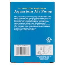 aqua culture 5 15 gallon single outlet aquarium air pump