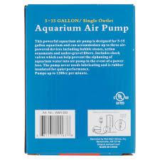 Walmart Store Floor Plan Aqua Culture 5 15 Gallon Single Outlet Aquarium Air Pump