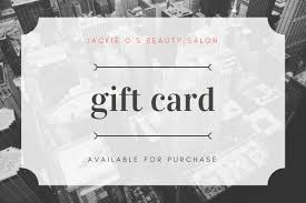 salon gift card weekly special promo jackie os beauty salon in chicago