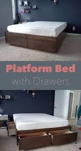 low platform bed or tatami bed with drawers natural color by