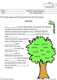 habitat worksheets worksheets