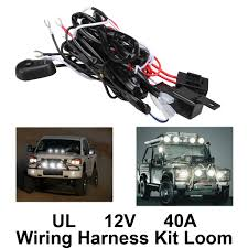 Led Vehicle Light Bar by Remote Control Wiring Harness Kit Switch Relay Led Work Light Bar