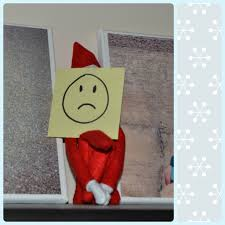 elf on the shelf idea post it sad face if kids are naughty