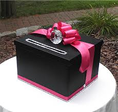 unique wedding card box gorgeous wedding card money box black satin pink faux diamond ring