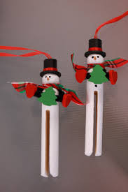 wooden clothespin snowman ornament handpainted 5 00 via etsy