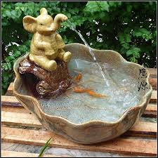 fountain for home decoration elephant fountain ceramic elephant fountain water tank opening