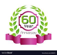 60 year birthday 60 year birthday celebration royalty free vector image