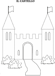 castle trace line worksheet july u0026 august preschool summer