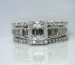 emerald cut wedding set bridal your jeweler