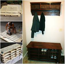 Shoerack Bench Awesome Shoe Storage Bench Made From Pallets