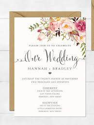 wedding invitation design best 25 floral wedding invitations ideas on wedding