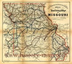 Missouri On Map Railway Map