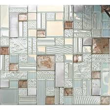 Stainless Steel Mosaic Tile Backsplash by Cream Crystal Glass Mosaic Tile 304 Stainless Steel Metal Tile