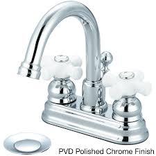 Porcelain Cross Handle Lavatory Faucet Best Bathroom Decoration