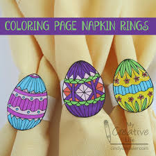 easter napkin rings derosier my creative coloring page napkin rings for
