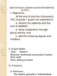 detailed lesson plan in math for high pdf final lesson