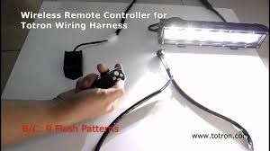 wireless remote controller for totron wiring harness youtube