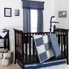 Grey Crib Bedding Sets Doodle Dot Patch Crib Starter Set In Navy Grey