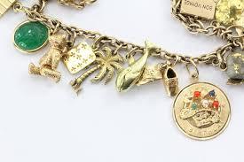 cartier bracelet charm images Antique 1940 39 s 14k gold loaded 26 charm bracelet w cartier JPG