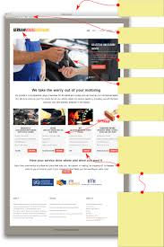 mechanic garage website design with bookings mot reminders and