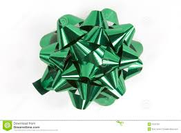 bow in green stock image image of shine green 1532791
