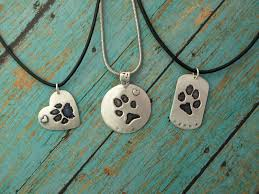 personalized paw print necklace handmade custom paw print necklace by jewelry by gigi custommade