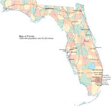 Panhandle Florida Map by Map With Cities And Beaches