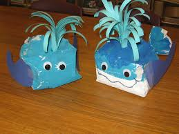 paper bag whales ocean theme projects made