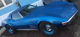 1971 corvette parts blue w black interior 1971 corvette 350 4 speed t top runs