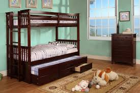 Espresso Twin Bed With Trundle Espresso Twin Twin Bunk Bed With Trundle Orange County Furniture