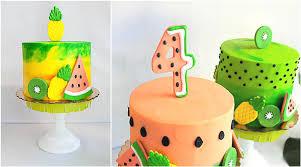 Tropical Themed Cake - tropical tutti frutti birthday bash