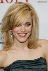 hair styles for pointy chins rachel mcadams with her hair styled over one of her eyes
