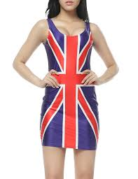 Flag Dress British Flag Print Sleeveless Dress Prettyguide