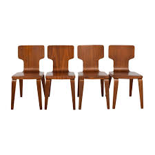 West Elm Furniture by 45 Off Inmod Inmod Vinnie Leather Side Chairs Chairs