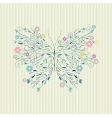 hand drawing sketch butterfly royalty free vector image
