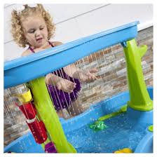 step 2 rain showers splash pond water table step2 pool we sat the water table inside his empty pool so that he