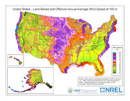 Color Map Of The United States by Wind Maps Geospatial Data Science Nrel