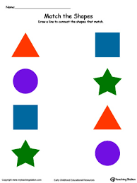 match the shapes in color myteachingstation com