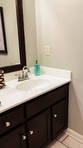 how to paint existing bathroom cabinets transforming bathroom vanity with gel stain java gel stain