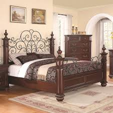 Iron King Bed Frame Low Wood Wrought Iron King Size Bed Home Pinterest