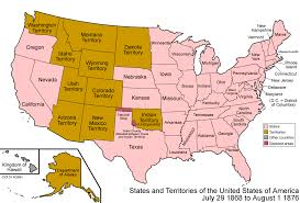 united states of america map with alaska and hawaii organized incorporated territories of the united states