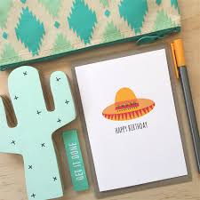 birthday card male or female sombrero hat mexican hbf175