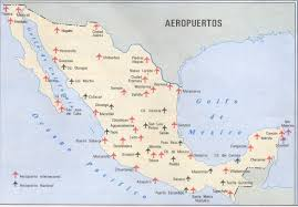 major airports in mexico map mexico map
