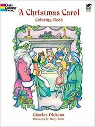 christmas carol dover holiday coloring book amazon uk