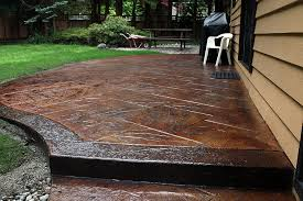 Stain Concrete Patio Yourself Is Stamped Concrete A Do It Yourself Project Spazio La U2013 Award