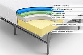 sleep master by zinus gel memory foam mattress 8