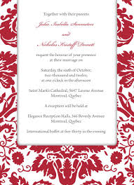 Wedding Invitations Montreal Red Wedding Invitation Templates Cloudinvitation Com
