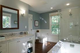 mushroom paint color bathroom traditional with wood floor mahogany